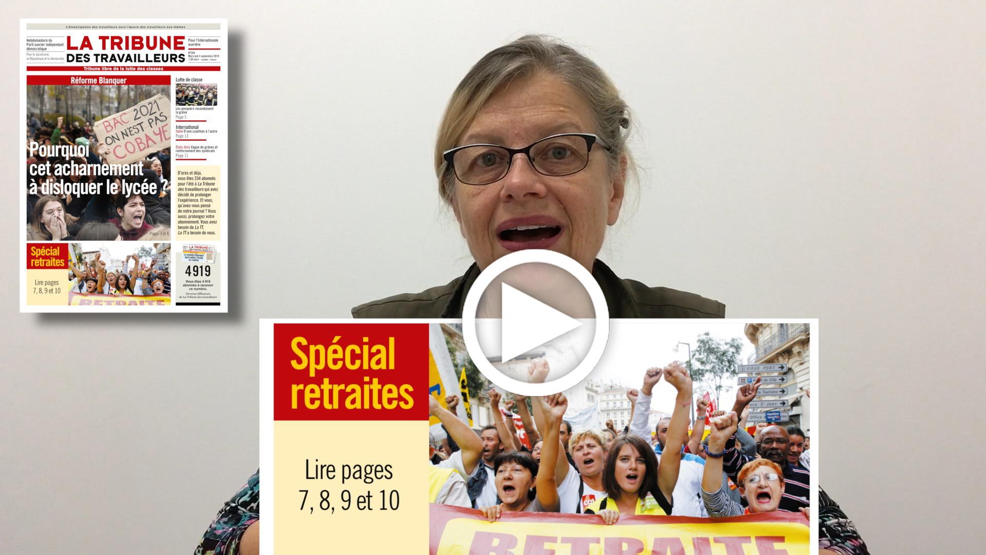 Les Infos-Hebdo du 5 septembre 2019 – Spécial retraites: il n'y a rien à négocier