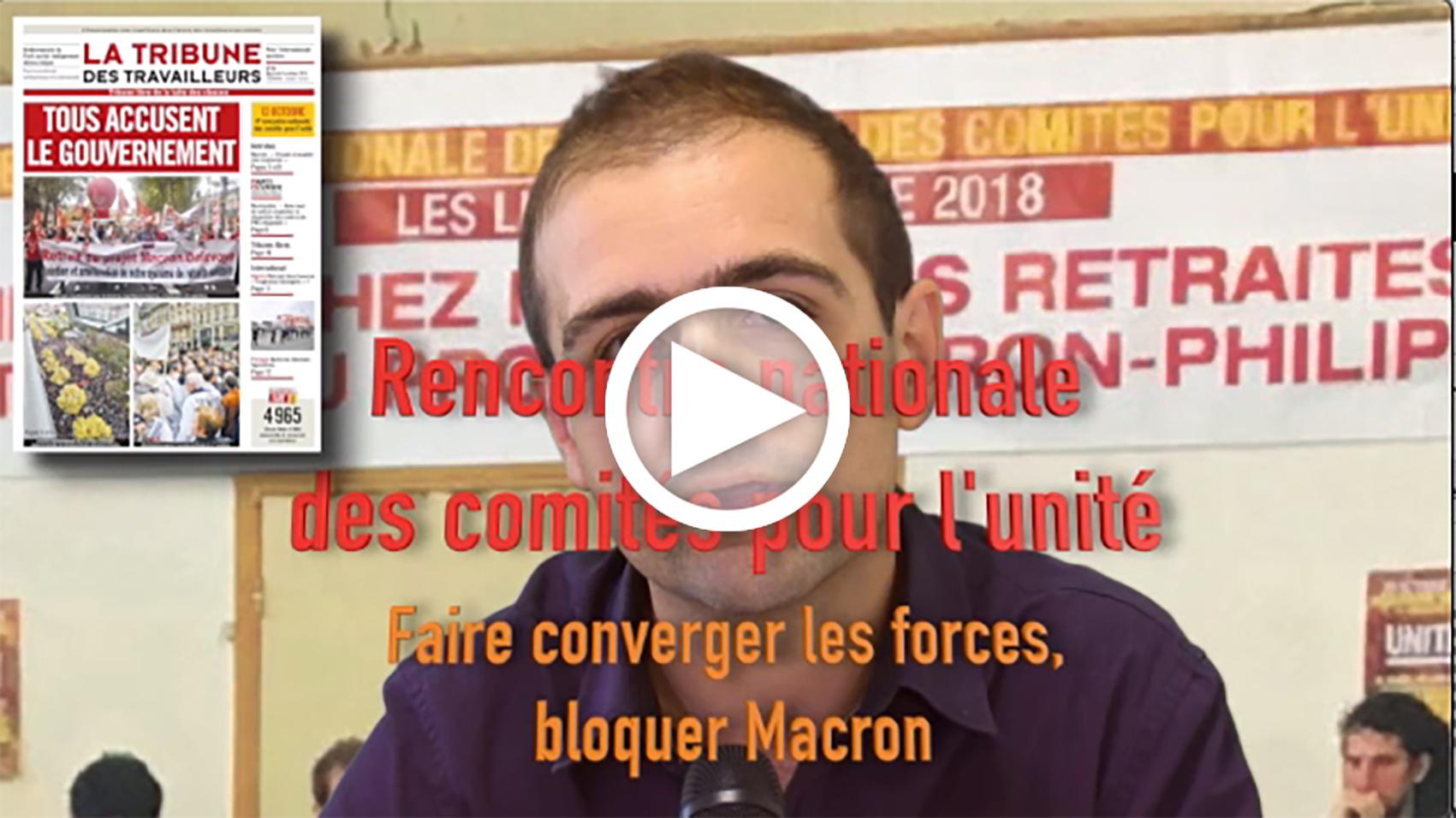 Les Infos-Hebdo du 10 octobre 2019 – Rencontre du 12 Octobre 2019 – Tout faire pour que l'unité se réalise pour bloquer le projet de réforme des retraites