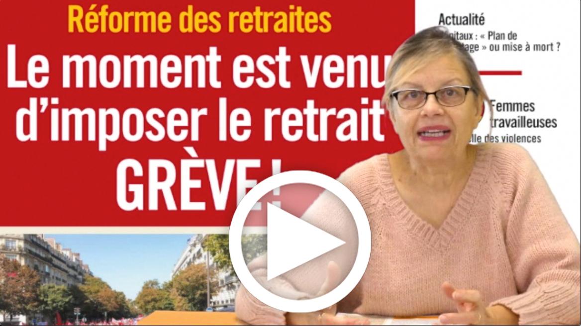 Les Infos-Hebdo du 28 novembre 2019 – Reforme des retraites : le moment est venu d'imposer le retrait : GREVE !