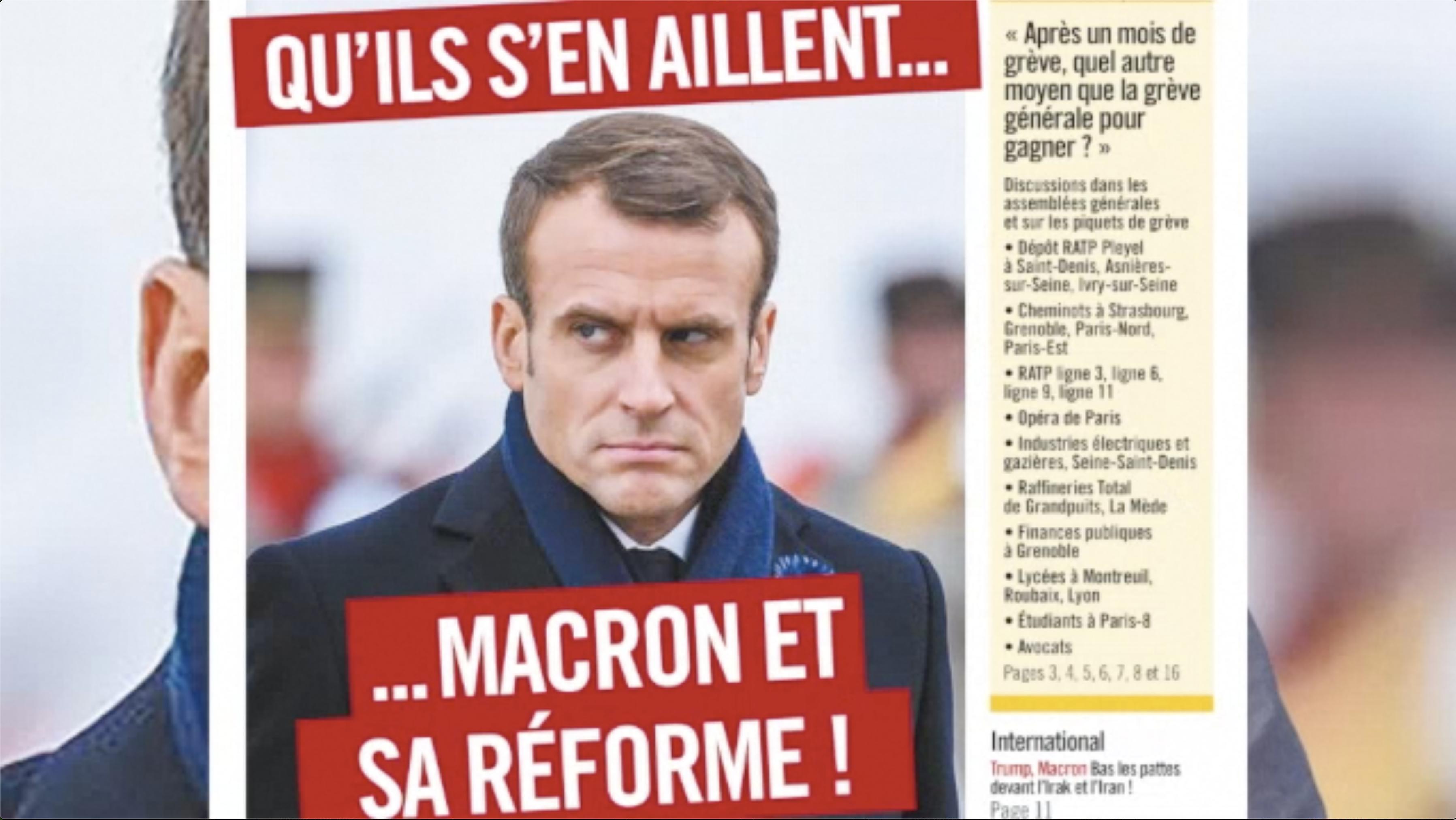Les Infos-Hebdo du 19 décembre 2019 – Retraites : le mandat de millions de travailleurs : le retrait !