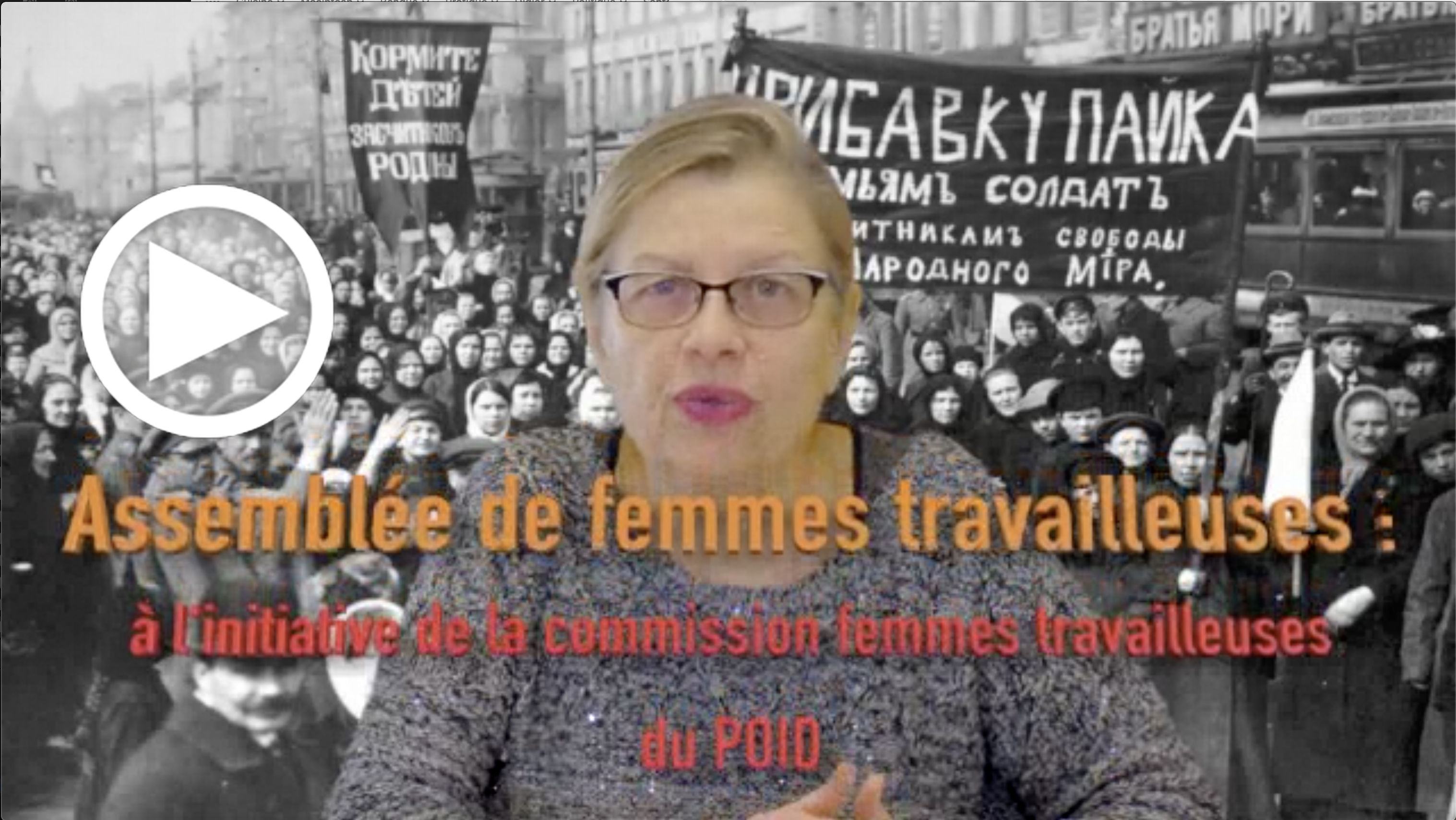 Les Infos-Hebdo du 27 février 2020 – Assemblée Femmes travailleuses à l'initiative de la commission Femmes travailleuses du POID