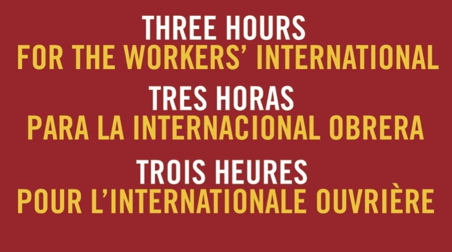 Aux travailleurs, militants et jeunes qui ont participé au meeting du 1er-Mai avec des travailleurs du monde entier